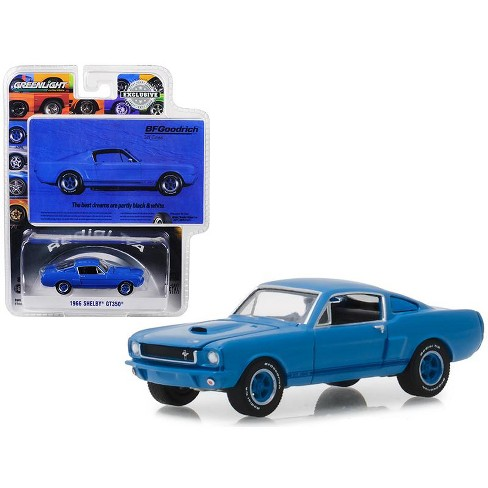 1966 Ford Mustang Shelby GT350 BFGoodrich Vintage 1/64 Scale Diecast Model Car - Greenlight - 29975