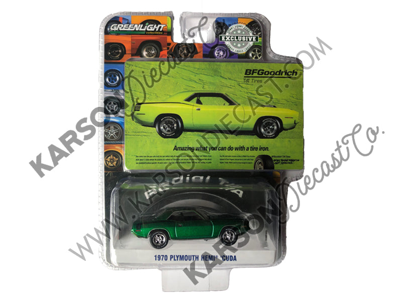 1970 Plymouth Hemi Barracuda Lime Green 1:64 Diecast - Greenlight - 29977 - CHASE GREEN MACHINE