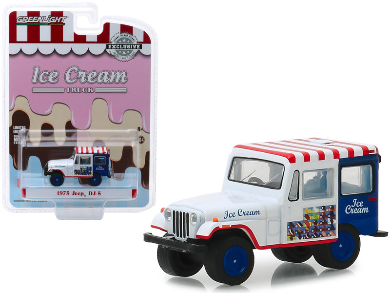 "1975 Jeep DJ-5 Ice Cream Truck ""Hobby Exclusive"" 1:64 Diecast Model Car - Greenlight - 30005"