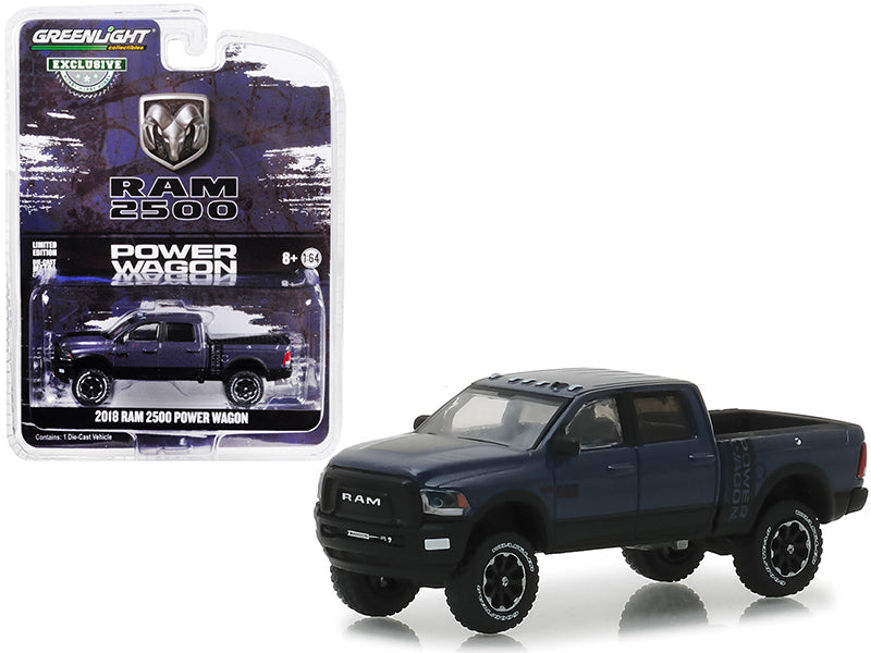2018 Ram 2500 Power Wagon Steel Maximum Steel 1:64 Scale Diecast Model - Greenlight - 30016