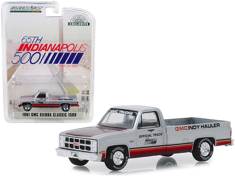 "1981 GMC Sierra Classic 1500 Pickup Truck ""65th Annual Indianapolis 500 Mile Race"" Official Truck (May 24, 1981) ""Hobby Exclusive"" 1/64 Diecast Model Car - Greenlight - 30027"