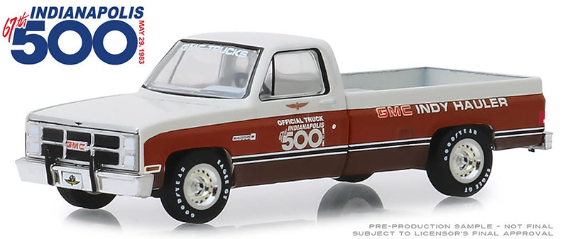 1983 GMC Sierra Classic 1500 - 67th Annual Indianapolis 500 Mile Race Official Truck 1:64 Scale Diecast - Greenlight - 30028