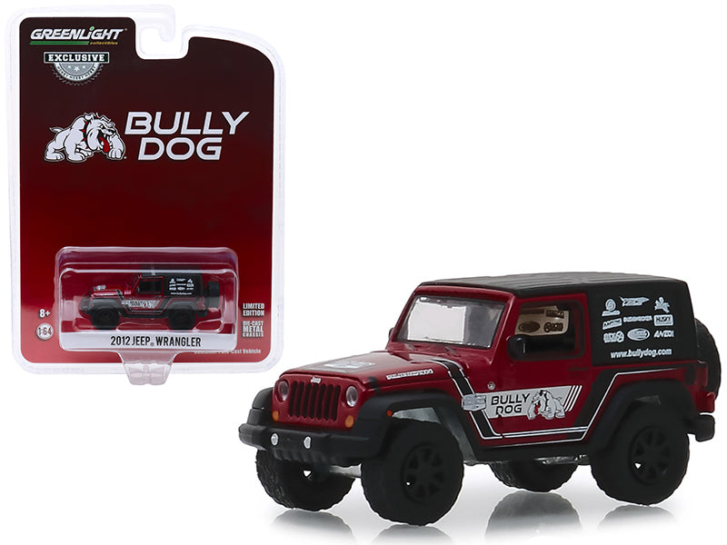 "2012 Jeep Wrangler Red w/ Black Top ""Bully Dog"" ""Hobby Exclusive"" 1:64 Diecast Model Car - Greenlight - 30086"
