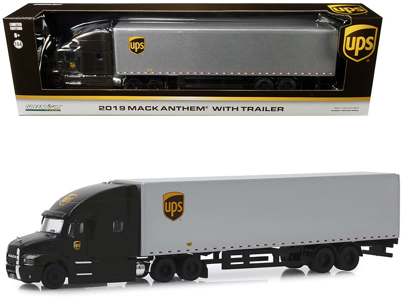 "2019 Mack Anthem with Trailer ""United Parcel Service"" (UPS) 1:64 Diecast Model - Greenlight - 30089"