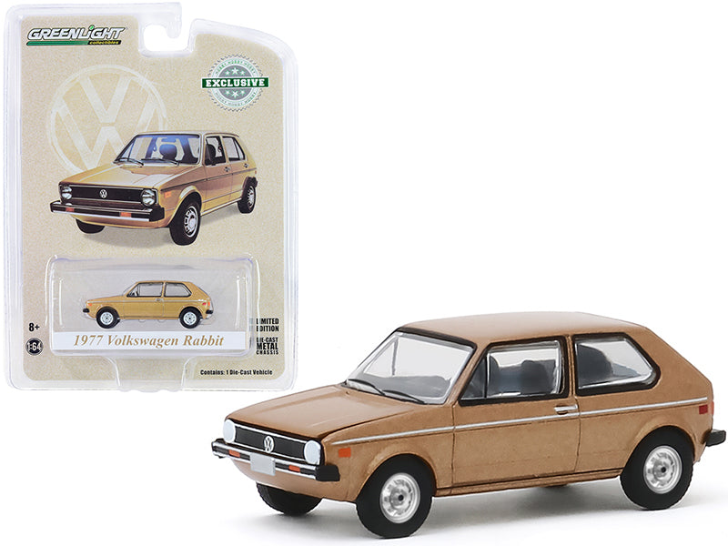 "1977 Volkswagen Rabbit 1:64 Diecast Champagne Metallic ""The Champagne Edition"" ""Hobby Exclusive""  Model Car - Greenlight 30099"