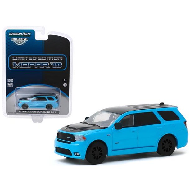 "2018 Dodge Durango SRT Blue Pearl Coat and Black Limited Edition Mopar '18 ""Hobby Exclusive"" 1:64 Diecast Model Car - Greenlight - 30130"