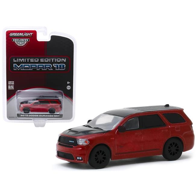 "2018 Dodge Durango SRT Octane Red and Black Limited Edition Mopar '18 ""Hobby Exclusive"" 1:64 Diecast Model Car - Greenlight - 30131"
