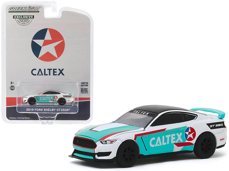 "2019 Ford Mustang Shelby GT350R Model ""Caltex"" ""Hobby Exclusive"" 1:64 Diecast - Greenlight 30133"