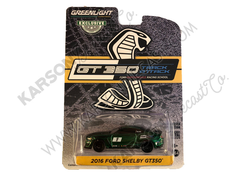 CHASE 2016 Ford Mustang Shelby GT350 #1 Triple Yellow Ford Performance Racing School GT350 Track Attack 1:64 Diecast Model Car - Greenlight - 30134