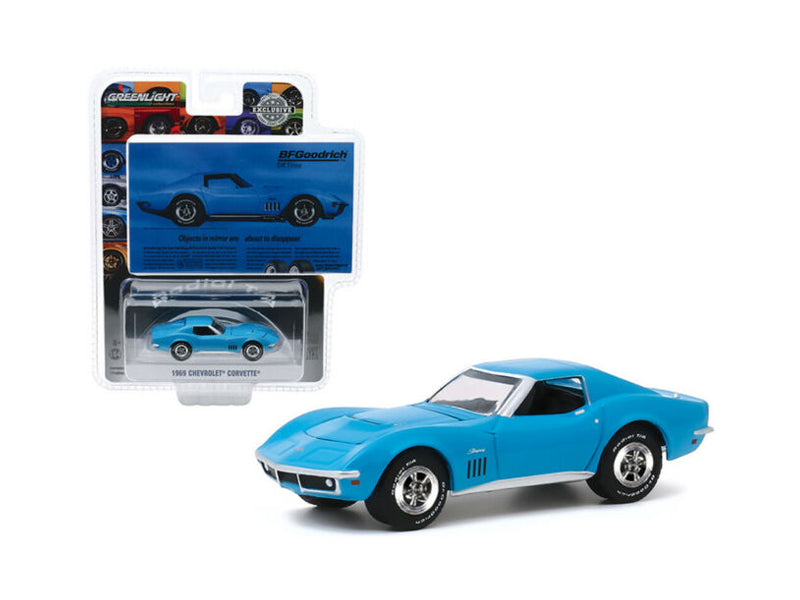1969 Chevrolet Corvette BFGoodrich Vintage Ad Cars Hobby Exclusive 1:64 Diecast Model Car - Greenlight 30137