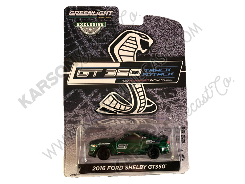 "CHASE 2016 Ford Mustang Shelby GT350 #21 Magnetic Gray ""Ford Performance Racing School"" GT350 Track Attack ""Hobby Exclusive"" 1:64 Diecast Model Car - Greenlight - 30192"