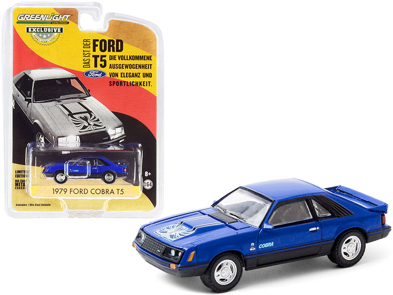 "1979 Ford Cobra T5 Blue Glow ""Hobby Exclusive"" 1:64 Diecast Model Car - Greenlight - 30205"