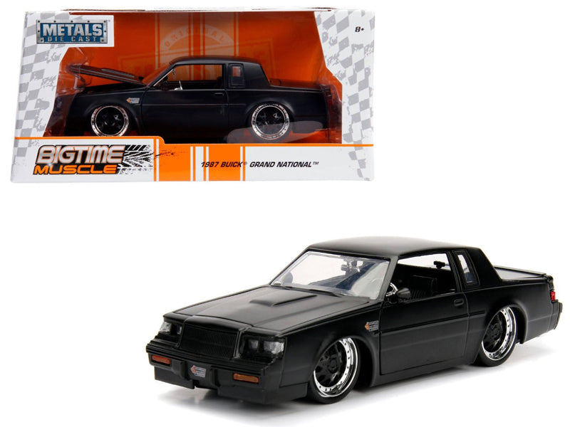 1987 Buick Grand National Matte Black 1/24 Diecast Model Car - Jada - 30342
