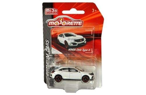 Honda Civic Type R White 1:64 Diecast Model Car - Majorette - 3052MJ9