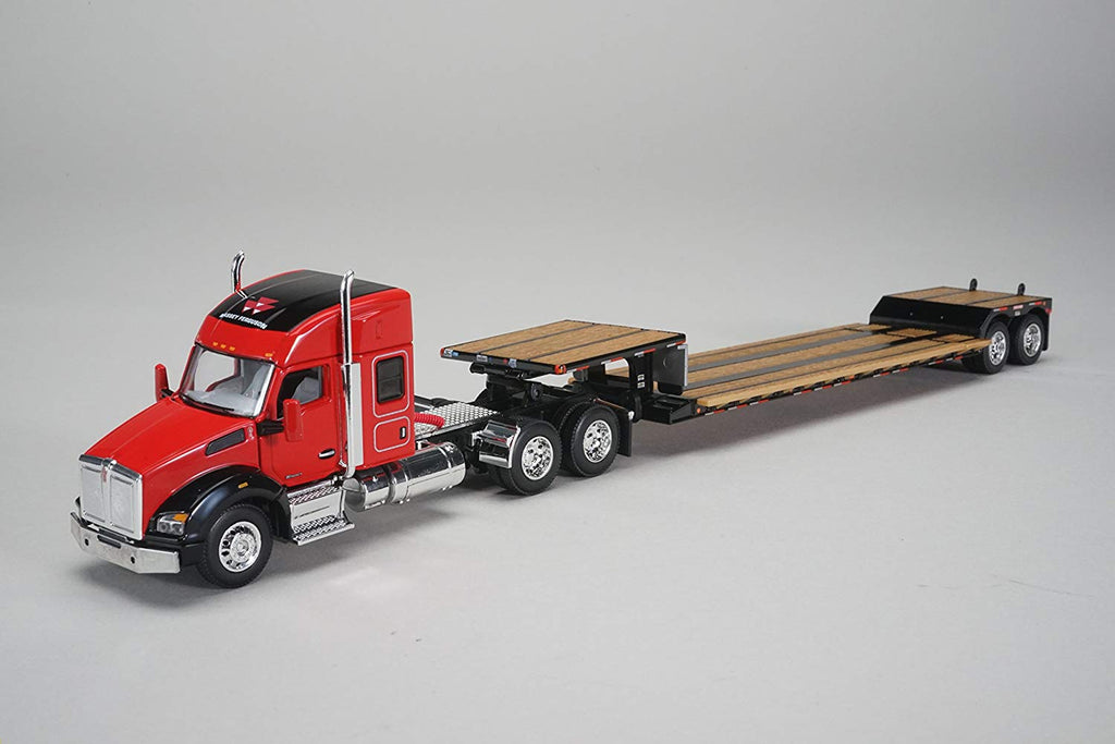 Kenworth T880 Sleeper Cab Massey Ferguson w Fontaine Renegade Lowboy Trailer 1/64 Scale Diecast Model - Speccast - 30556