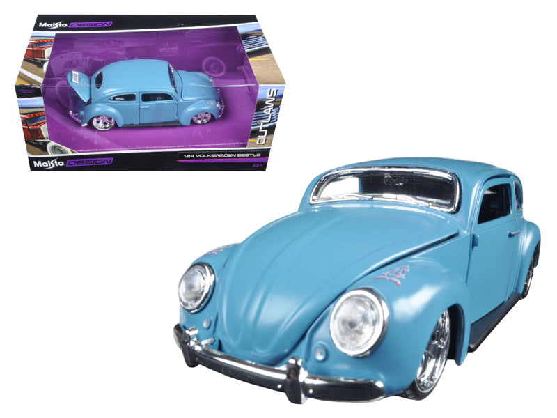 "Volkswagen Beetle Blue ""Outlaws"" 1:24 Diecast Model Car - Maisto - 31023BL"