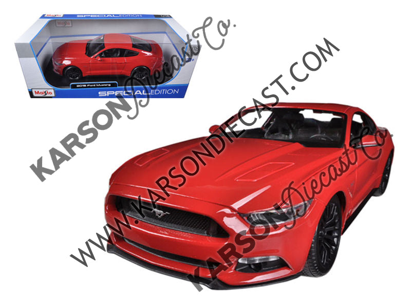2015 Ford Mustang GT 5.0 Red 1:18 Diecast Model - Masito 31197RD