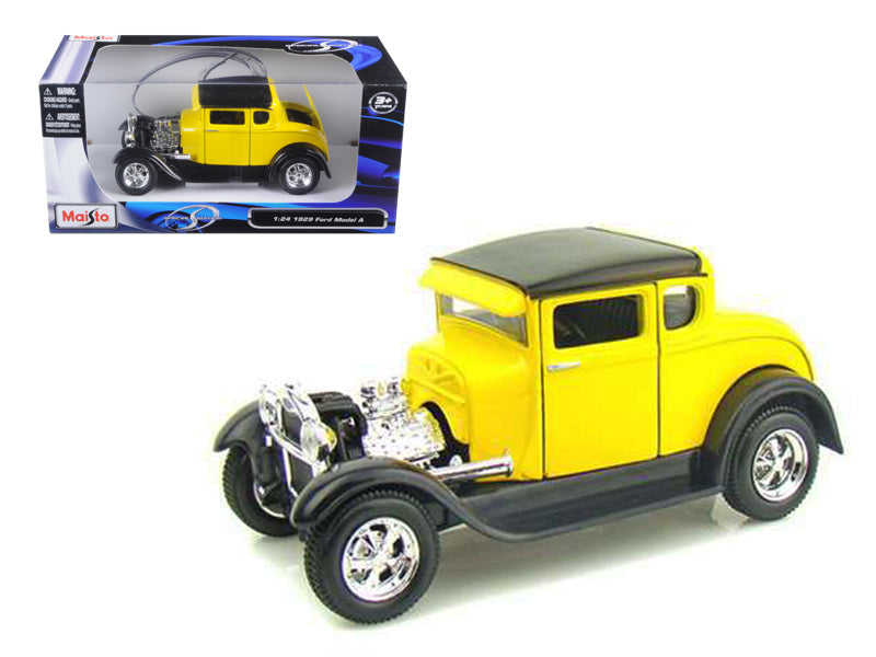 1929 Ford Model A Yellow 1:24 Diecast Model Car - Maisto - 31201YL