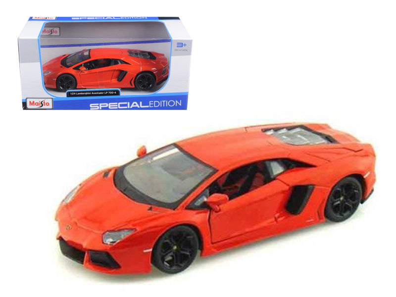 2011 Lamborghini Aventador LP700-4 Orange 1:24 Diecast Model Car - Maisto 31210OR