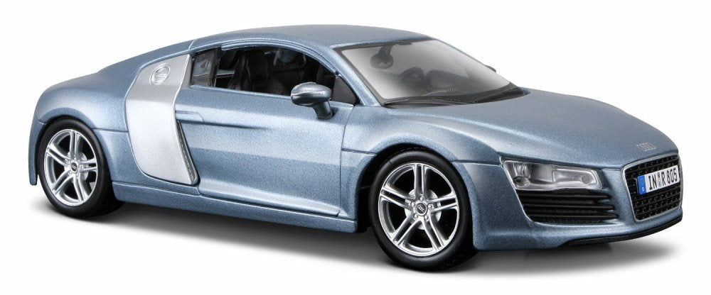 Audi R8 Matt Blue 1:24 Diecast Model Car - Maisto - 31281