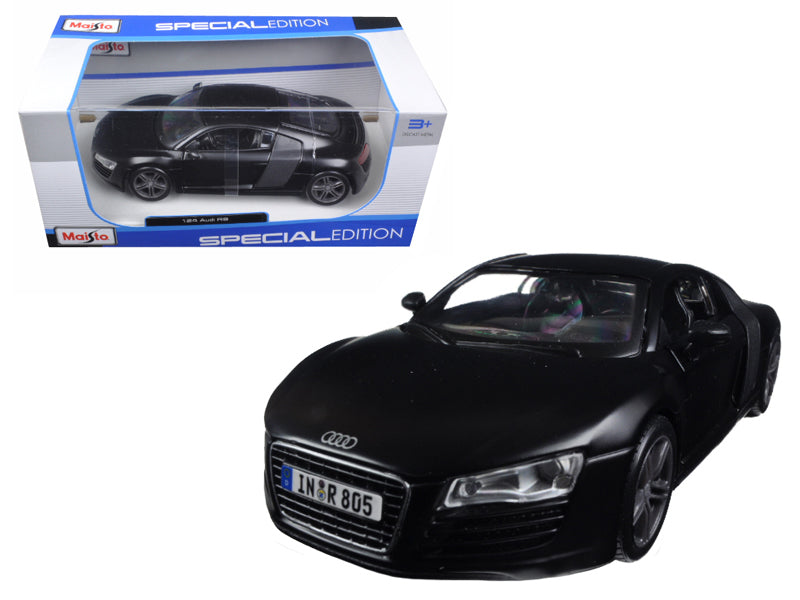 Audi R8 Matt Black 1:24 Diecast Model Car - Maisto - 31281