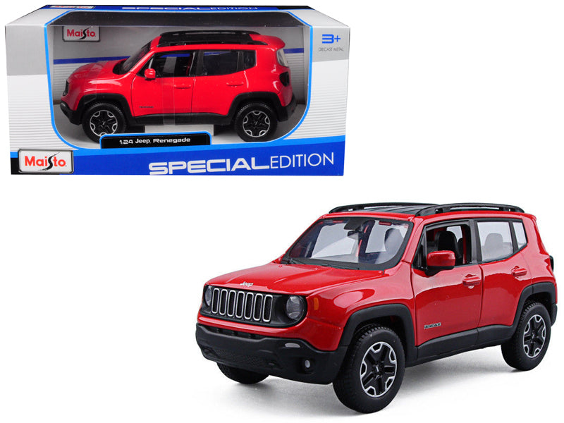 Jeep Renegade Red 1:24 Diecast Model Car - Maisto - 31282RD