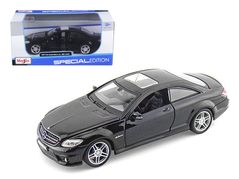 Mercedes Benz CL63 AMG Black 1:24 Diecast Model Car - Maisto - 31297BK