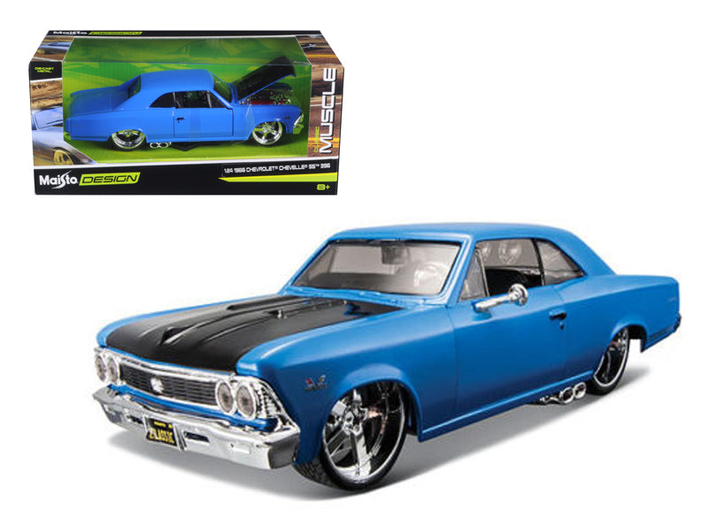 "1966 Chevrolet Chevelle SS 396 Blue ""Classic Muscle"" 1:24 Diecast Model Car - Maisto - 31333BL"