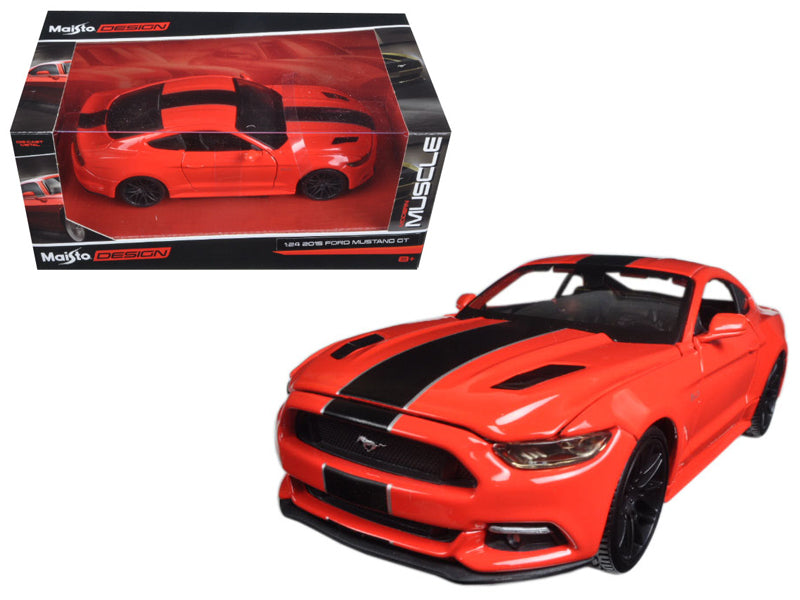 "2015 Ford Mustang GT Red ""Classic Muscle"" 1:24 Diecast Model Car - Maisto - 31369RD"