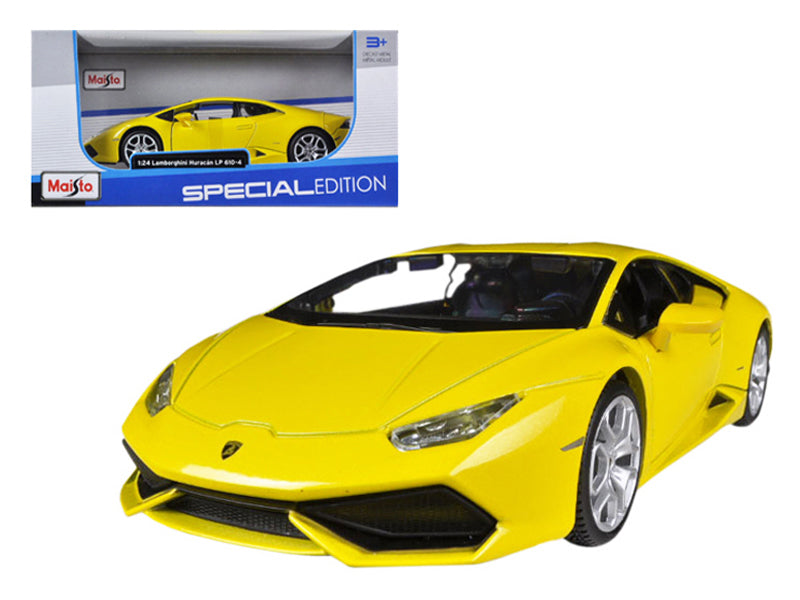 Lamborghini Huracan LP610-4 Yellow 1:24 Diecast Model Car - Maisto - 31509YL