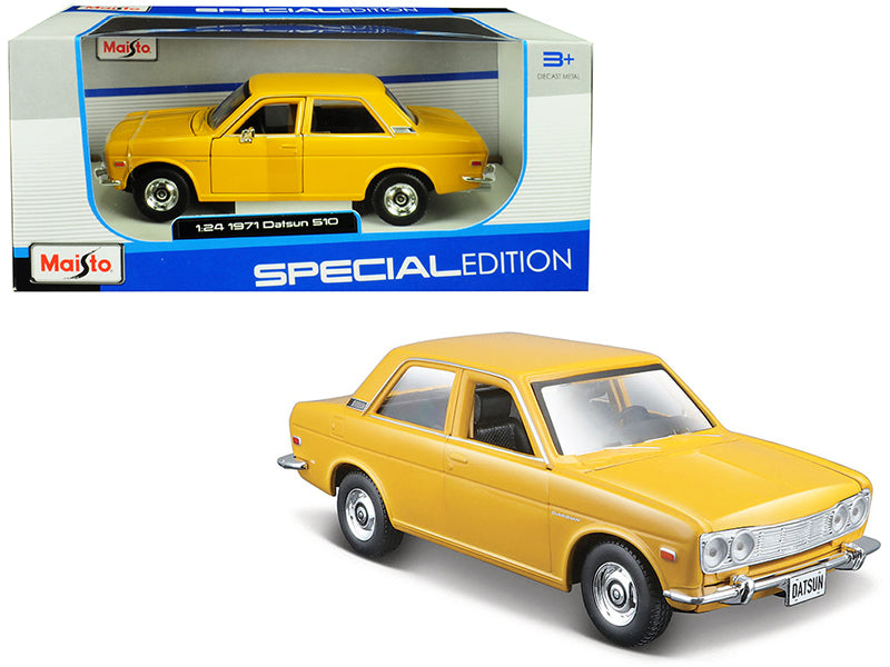 "1971 Datsun 510 Yellow ""Special Edition"" 1:24 Diecast Model Car - Maisto - 31518YL"