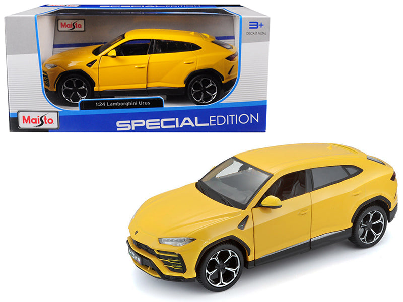 Lamborghini Urus Yellow 1:24 Diecast Model Car - Maisto - 31519YL