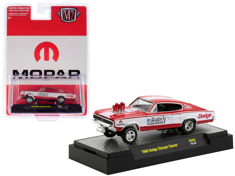 "1966 Dodge Charger Gasser ""MOPAR"" ""Direct Connection"" ""Hobby Exclusive"" Limited Edition to 3,600 pieces Worldwide 1:64 Diecast Model Car - M2 Machines 31600-GS02"
