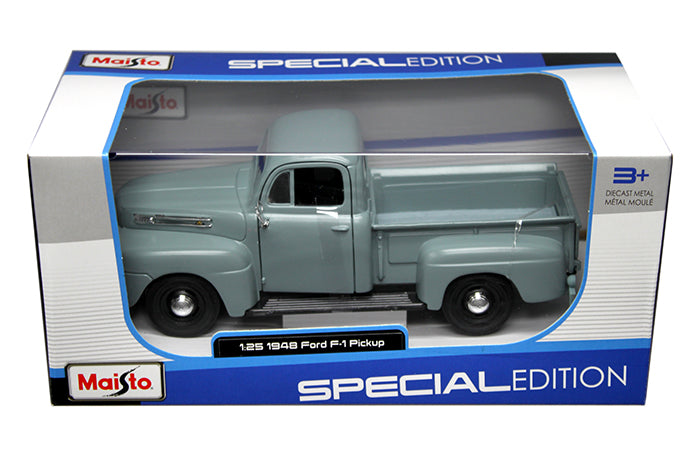 1948 Ford F-1 Pickup Truck Gray 1:25 Diecast Model Car - Maisto - 31935GRYBL