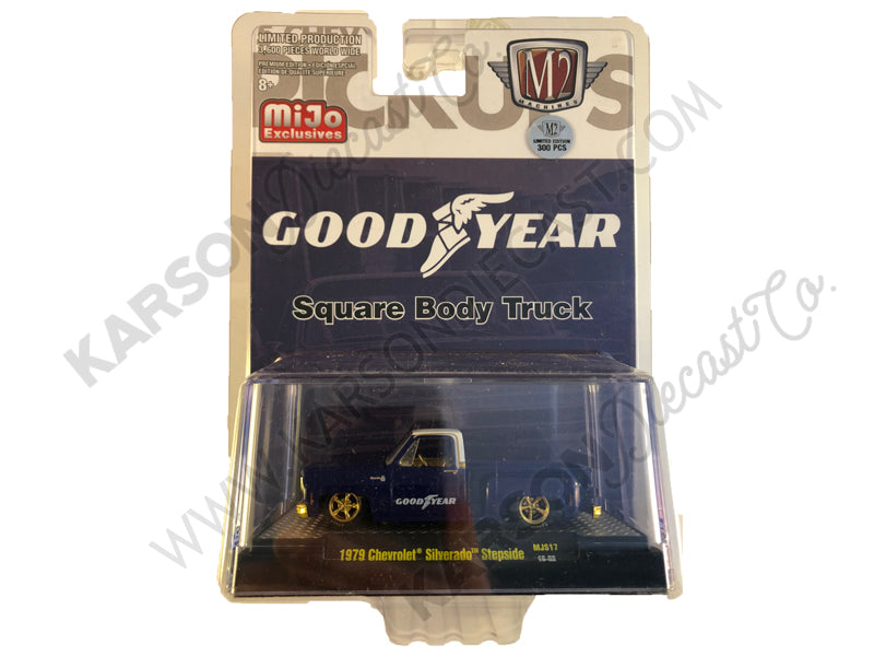 1979 Chevrolet Silverado Stepside Goodyear 1/64 Scale Diecast Model - M2 Machines - 32500-MJS17 - M2 GOLD CHASE