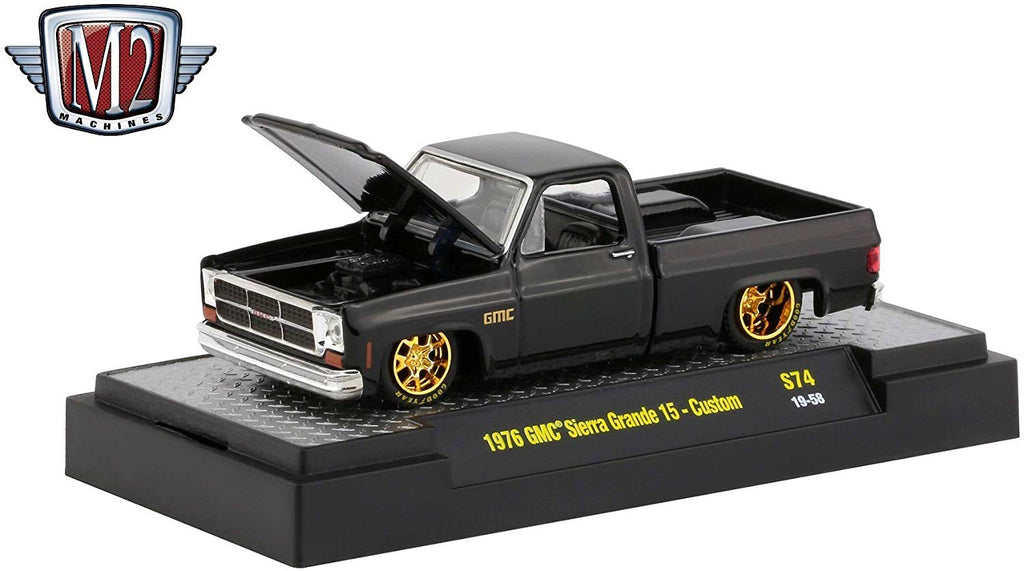 1976 GMC Custom Trans Am w/ Hood Birds Gloss Black 1/64 Diecast Model Cars - M2 Machines - 32500-S74