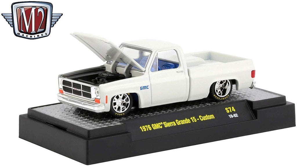 1976 GMC Custom Trans Am w/ Hood Birds Wimbledon White 1/64 Diecast Model Cars - M2 Machines - 32500-S74