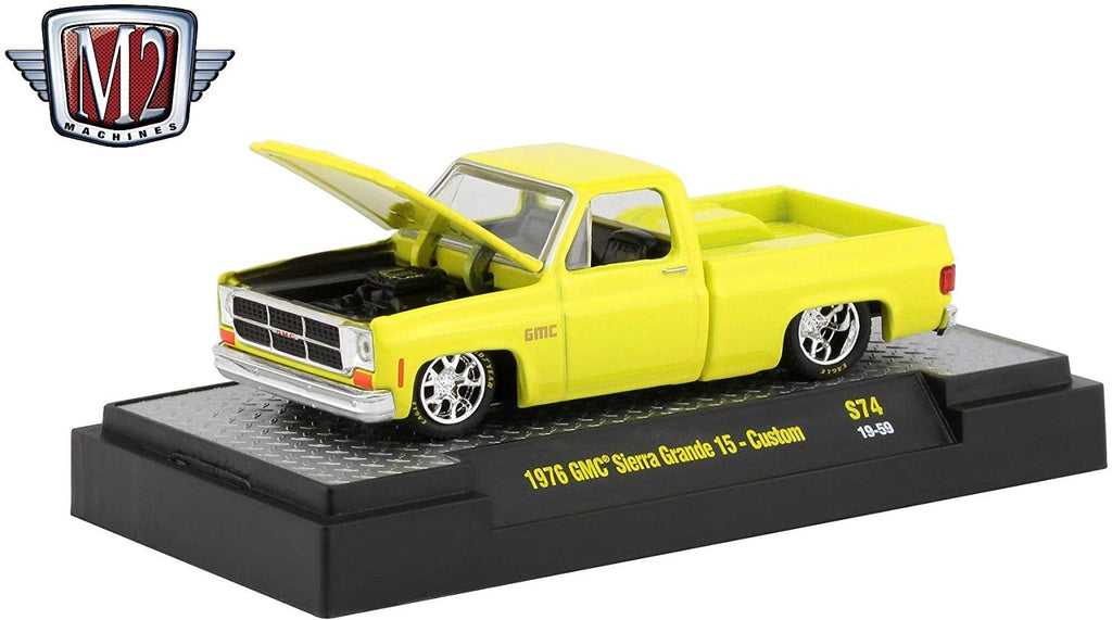 1976 GMC Custom Trans Am w/ Hood Birds Goldenrod Yellow 1/64 Diecast Model Cars - M2 Machines - 32500-S74