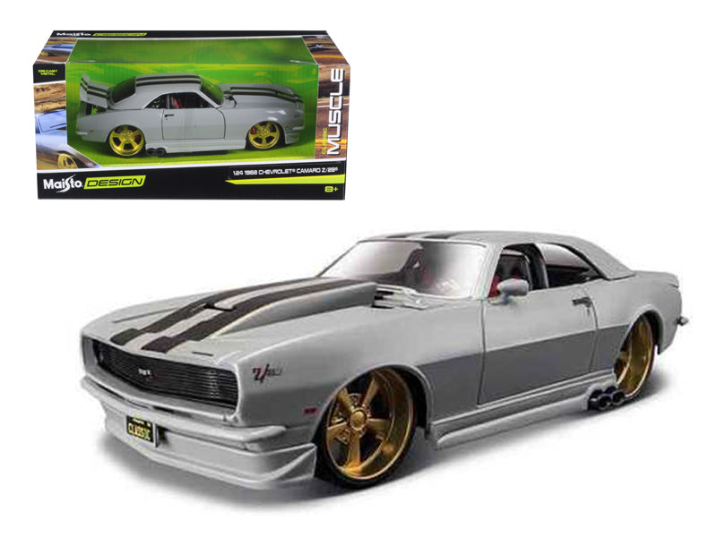"1968 Chevrolet Camaro Z/28 Silver ""Classic Muscle"" 1:24 Diecast Model Car - Maisto - 32508SIL"