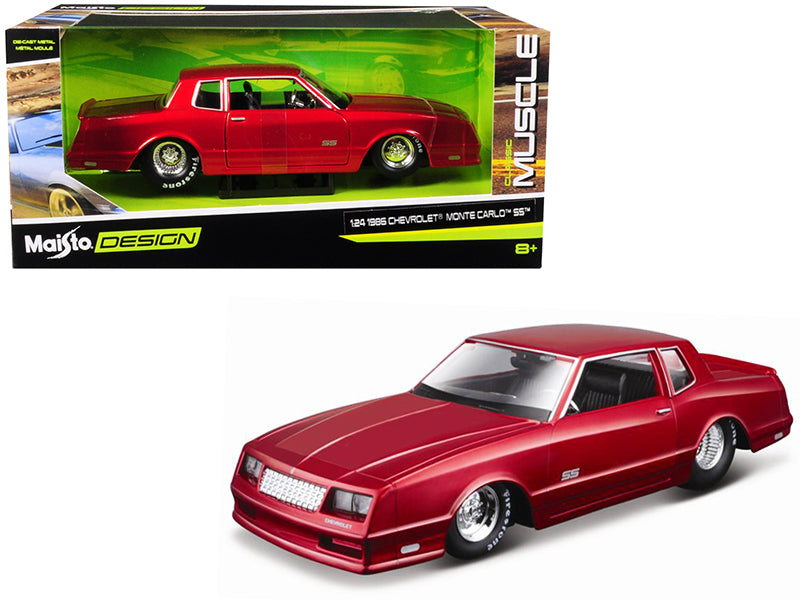 "1986 Chevrolet Monte Carlo SS Candy Red ""Classic Muscle"" 1:24 Diecast Model Car - Maisto - 32530RD"