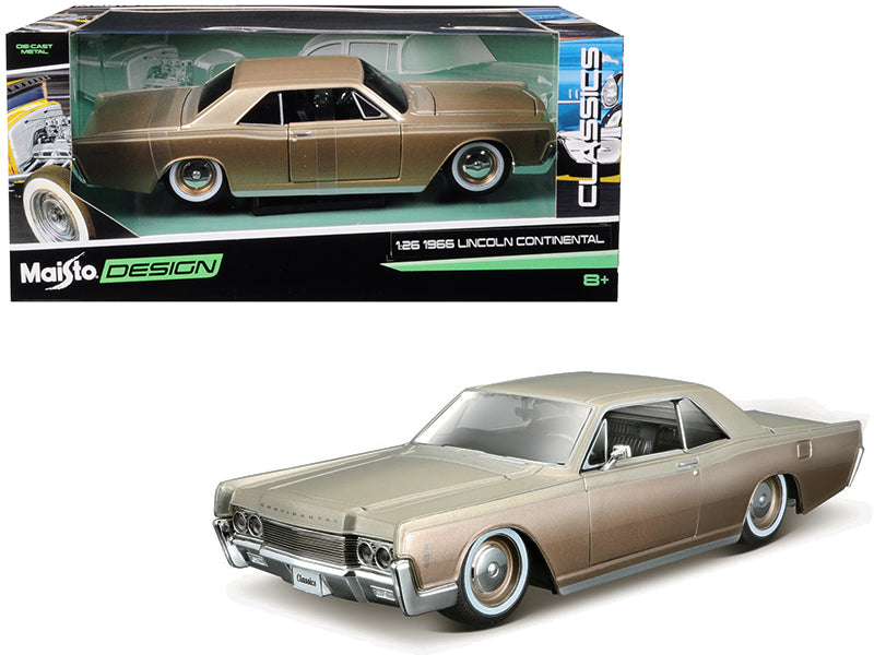 "1966 Lincoln Continental Gold ""Classic Muscle"" 1:26 Diecast Model Car - Maisto - 32531GLD"