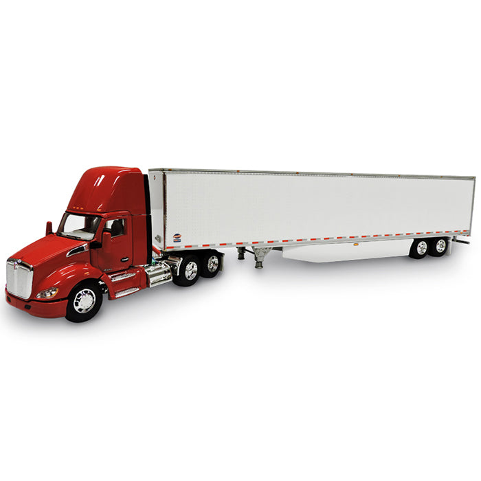 Kenworth T680 Day Cab w/ 53' Skirted Utility Dry Goods Trailer 1/64 Scale Diecast Model - DCP - 34083