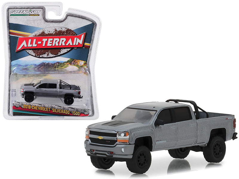 2018 Chevrolet Silverado 1500 Supercharged ZL Gray 1:64 Truck Model - Greenlight - 35110F