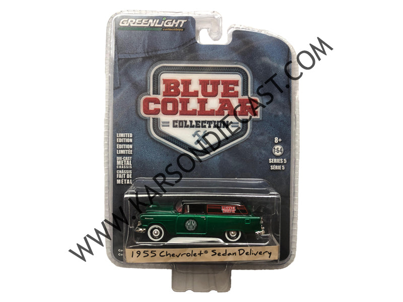 "1955 Chevrolet Sedan Delivery ""Marvel Mystery Oil"" ""Blue Collar Collection"" Series 5 1:64 Diecast Model Car - Greenlight - 35120A - CHASE GREEN MACHINE"