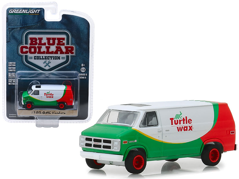 "1983 GMC Vandura Van ""Turtle Wax"" ""Blue Collar Collection"" Series 5 1:64 Diecast Model Car - Greenlight - 35120E"