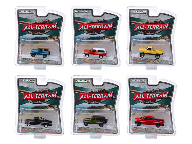 """All Terrain"" Series 9, Set of 6 pieces 1/64 Diecast Model Cars - Greenlight - 35150SET"