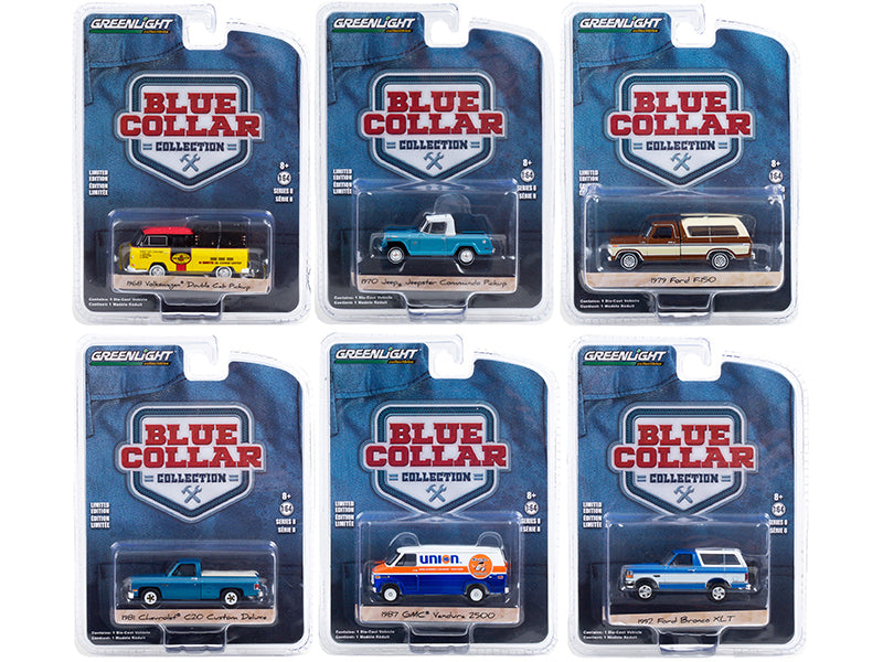 """Blue Collar Collection"" Set of 6 pieces Series 8 Diecast 1:64 Model Cars - Greenlight - 35180SET"