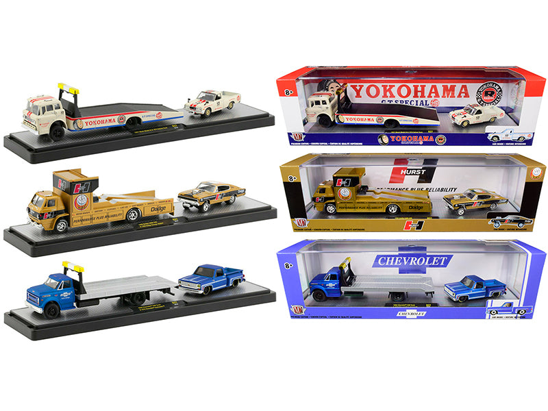 """Auto Haulers"" Set of 3 Trucks Release 37 Limited Edition to 6000 pieces 1:64 Diecast Models - M2 Machines 36000-37"