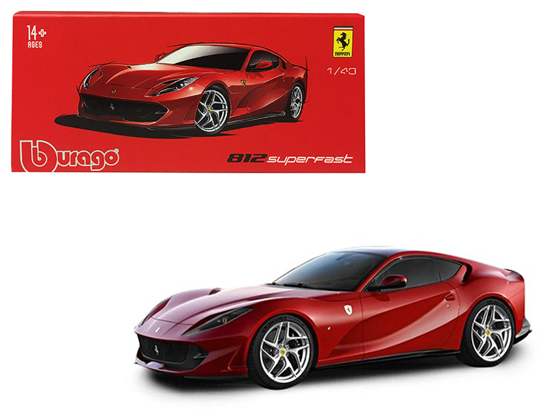 Ferrari 812 Superfast Red Signature Series 1:43 Diecast Model - Bburago - 36908RD
