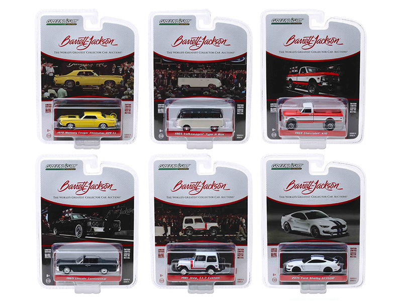 "Barrett Jackson ""Scottsdale Edition"" Series 4, Set of 6 Cars 1/64 Diecast Model Cars - Greenlight - 37180"